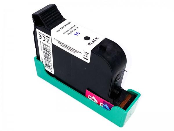 Kompatibel zu HP 15 / C6615D Tintenpatrone Black