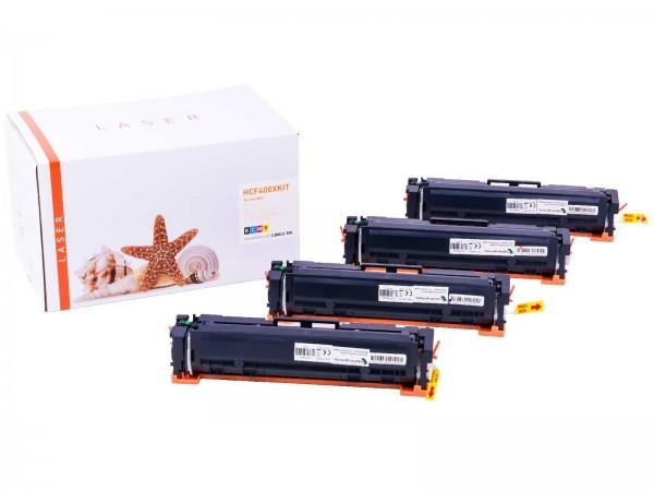 Kompatibel zu HP CF400X CF401X CF402X CF403X / 201X Toner Multipack CMYK (4er Set)