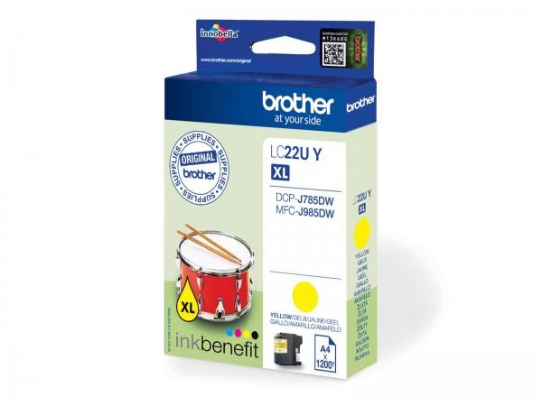 Brother LC22UY XL / Tintenpatrone Yellow