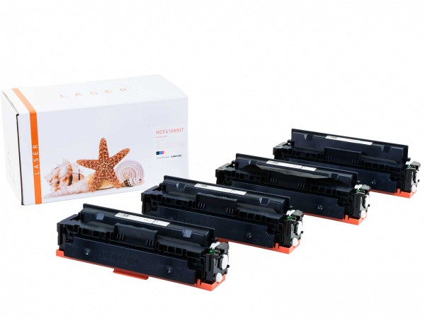Kompatibel zu HP CF410X CF411X CF412X CF413X / 410X Toner Multipack CMYK (4er Set)