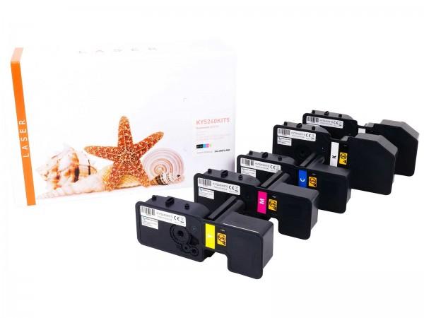 Kompatibel zu Kyocera TK5240 Toner Multipack CMYK (5er Set)