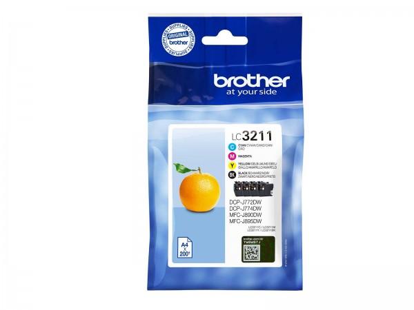 Brother LC3211VAL Tintenpatrone Multipack CMYBK