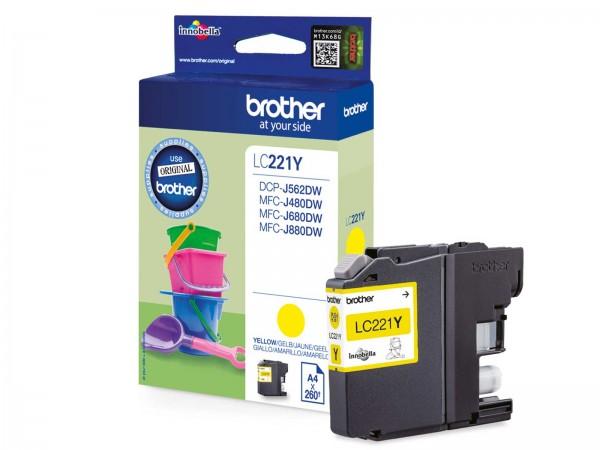 Brother LC221Y Tintenpatrone Yellow