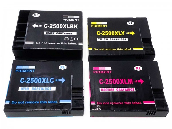 Kompatibel zu Canon PGI-2500XL / 9254B004 Tinten Multipack CMYK (4er Set)