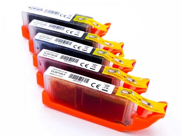 Kompatibel zu Canon PGI-570XL / CLI-571XL / 0372C004 Tinten Multipack CMYK (5er Set)