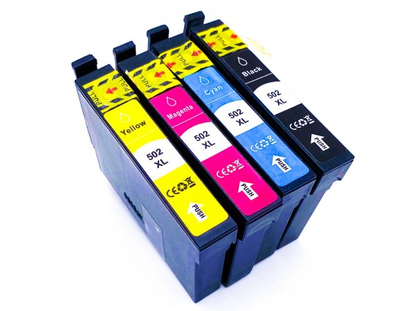 Kompatibel zu Epson 502XL / C13T02W64010 Tinte Multipack C,M,Y,BK